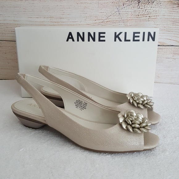 7a86cd87785b New Anne Klein Liza Peep Toe Slingback